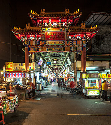 Night market and Chiang Kai-shek Memorial Hall - p429m897047 by Eric Gregory Powell