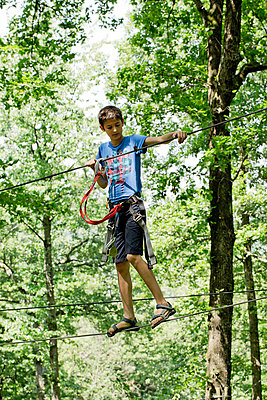Ropes course - p445m1051409 by Marie Docher