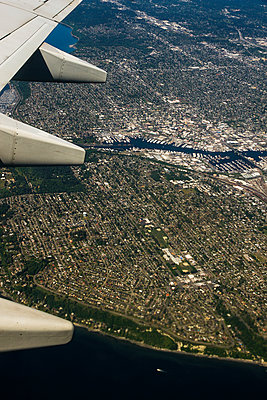 Aerial view of Seattle - p758m1154871 by L. Ajtay