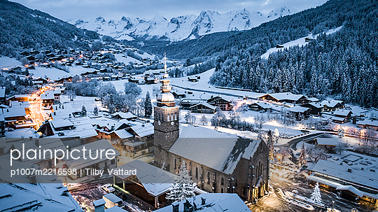 France, View of Le Grand Bornand - p1007m2216598 by Tilby Vattard