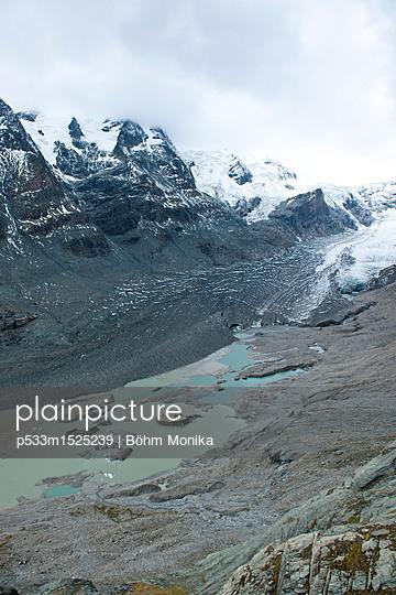 Gletscherzunge am Fuße des Großglockners - p533m1525239 von Böhm Monika