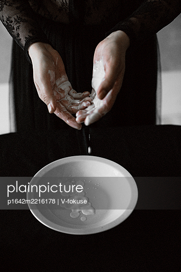 Hands disinfection - p1642m2216178 by V-fokuse
