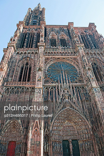 Low angle view of gothic cathedral
