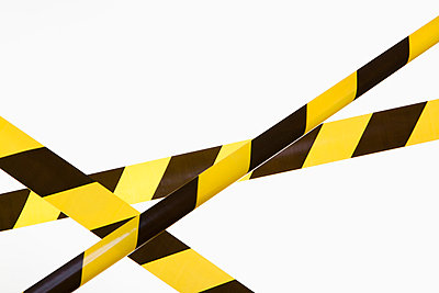 Crisscrossed yellow and black striped cordon tape - p30119350f by Epoxydude
