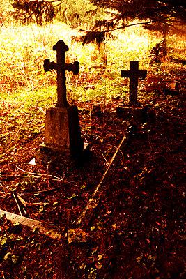 Gravestones in cemetery - p597m2277973 by Tim Robinson