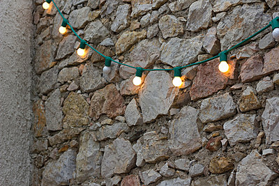 fairy lights - p1061m853215 by Virginie Bled