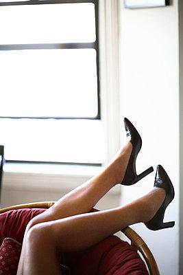 Woman's legs - p3720422 by James Godman