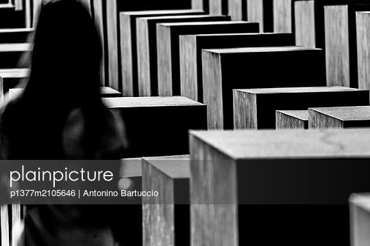 Germany, Berlin, Berlin Mitte, Holocaust memorial - p1377m2105646 by Antonino Bartuccio