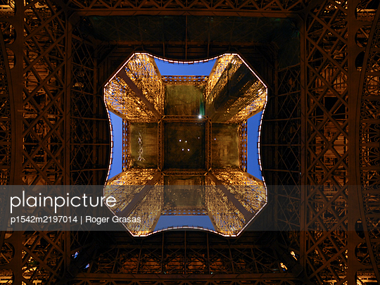 Eiffel tower from below - p1542m2197014 by Roger Grasas