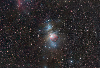 Astrophotography, Long Exposure, emission nebula Messier 42 or Great Orion Nebula - p300m2023845 by Thomas Grohmann