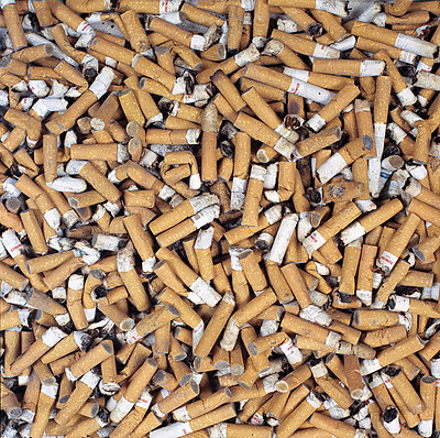 A pile of cigarette butts - p4550488f by Magnus Wahman