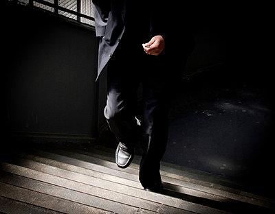 Busienss man on stairs - p558m881854 by A.da Cunha