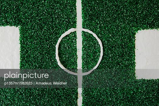 Fußballkuchen mit Kokosstreusel_2 - p1357m1582623 von Amadeus Waldner
