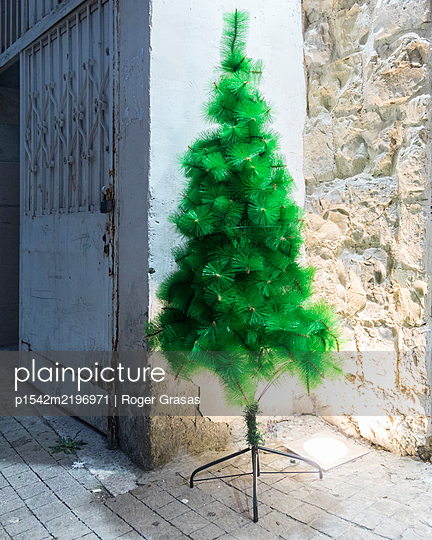 Israel, Haifa, Artificial christmas tree  - p1542m2196971 by Roger Grasas