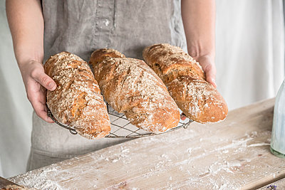 Freshly baked bread - p936m1161846 by Mike Hofstetter