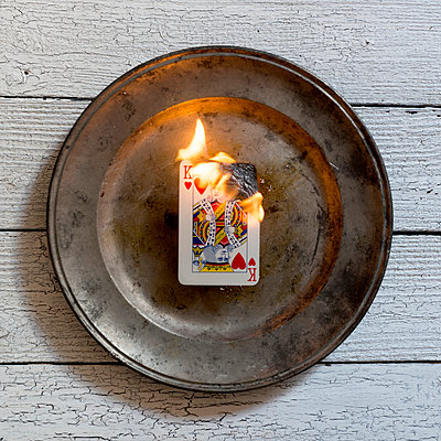 Burning card - p451m1000316 by Anja Weber-Decker
