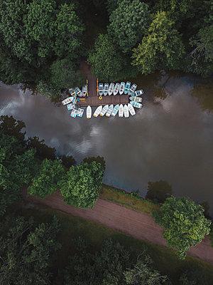 Boats at Pavlovsky Park, Pavlovsk, St. Petersburg, Russia - p300m2275908 by Konstantin Trubavin