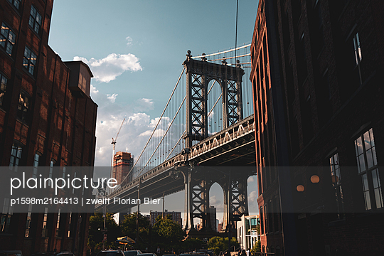 Brooklyn Bridge, Brooklyn, New York City - p1598m2164413 by zweiff Florian Bier