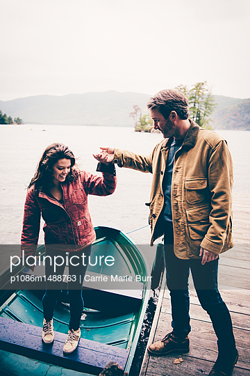 Lake George Fall Portraits - p1086m1488763 by Carrie Marie Burr