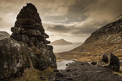 Landschaft auf den Färöer Inseln - p1354m1216667 von Kaiser