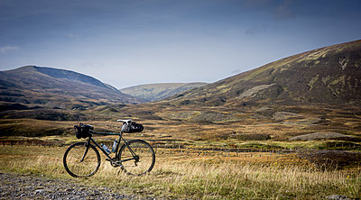 Bike in the Scottish Highlands - p343m1168036 by Brent Olson