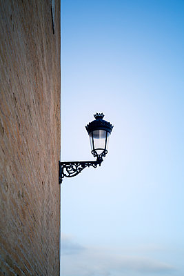 Lamp Against Wall - p1248m1590743 by miguel sobreira