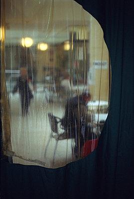 Curtain in restaurant - p2682440 by Andrea Völkel
