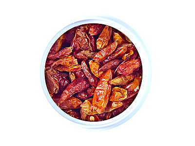 Dried chillies - p401m1182074 by Frank Baquet