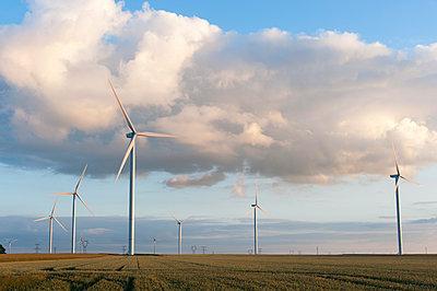 Windkraft, Eure-et-Loir, Frankreich - p1079m1074161 von Ulrich Mertens