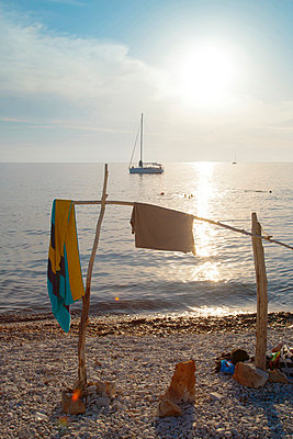 Sunset On Beach, Dugi Otok, Dalmatia, Croatia, Europe - p1026m809088f by Romulic-Stojcic