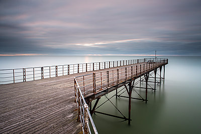 Bognor Regis Pier at dawn, England - p1516m2158280 by Philip Bedford