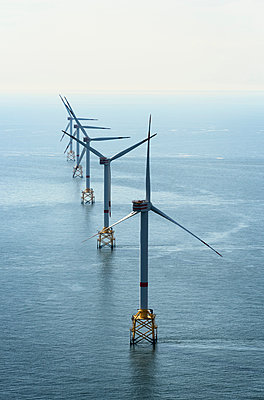 Offshore wind farm, North Sea - p429m1156287 by Mischa Keijser