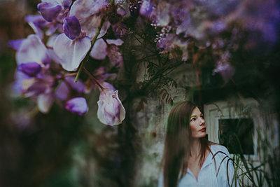 flower garden - p1529m2116269 by EMMA WOOD