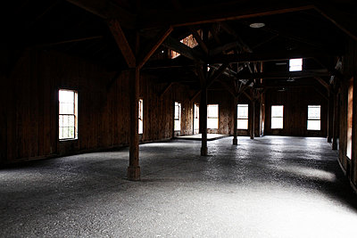 Wood Building Interior - p694m663763 by Maria K