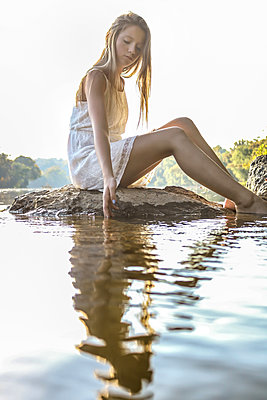 Girl in the River - p1019m1480951 by Stephen Carroll
