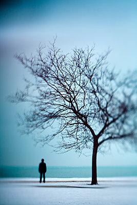 Alleine am Ufer - p1614m2185789 von James Godman