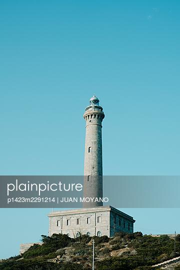 The lighthouse of Cabo de Palos, in Cartagena, Region of Murcia, Spain - p1423m2291214 by JUAN MOYANO
