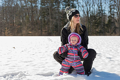 Babies First Winter - p1086m894221 by Carrie Marie Burr
