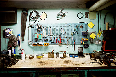 Tools in workshop - p1185m994539f by Astrakan
