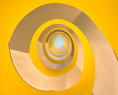 Yellow Staircase - p1209m1025805 by Guido Erbring