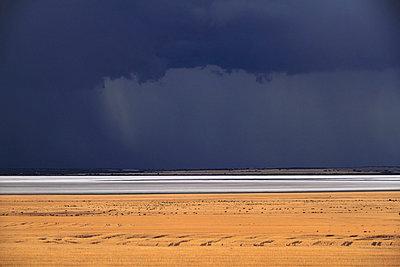 Storm over Farmland and Yarra Yarra Lake - p979m909957 von Mayall