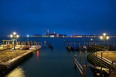 Italy, Venice, San Giorgio Maggiore as seen from San Marco at twilight - p300m1204481 by Xose Casal