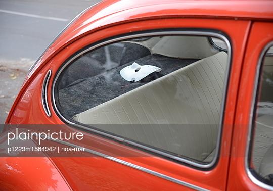 Maske in einem Auto - p1229m1584942 von noa mar
