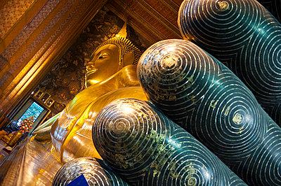 The Reclining Buddha of Wat Pho; Bangkok, Thailand - p442m999908 by Chris Parker
