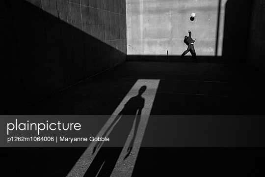 Playing Children and Shadows - p1262m1064006 by Maryanne Gobble