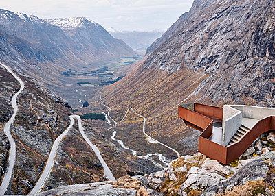 Norway, Geiranger Fjord, Trollstigen - p1124m2228978 by Willing-Holtz