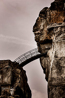 Bridge at rock formation - p248m1020117 by BY