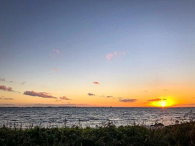 Sunset on Fyn - p382m2283985 by Anna Matzen