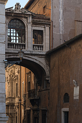 Alley with archway, Old Town, Rome - p1624m2223735 by Gabriela Torres Ruiz