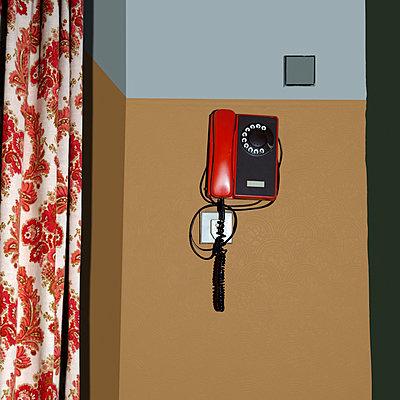Rotes Telefon - p230m889850 von Peter Franck